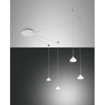 Fabas Luce Isabella Lampa Wisząca LED Biały, 4-punktowe