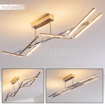 KELSEY lampa sufitowa LED Nikiel matowy, Chrom, 8-punktowe