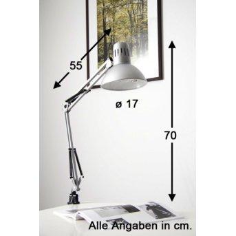 Brilliant Hobby lampa z klipsem Stal nierdzewna, Tytan, 1-punktowy