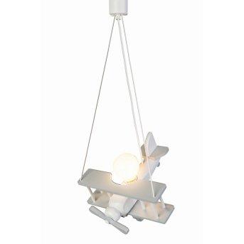 Waldi Flugzeug Lampa Wisząca Siwy, Biały, 1-punktowy