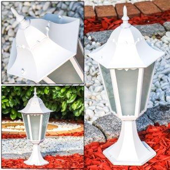 Hongkong Frost Lampa na cokół Biały, 1-punktowy