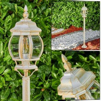 Lentua Zewnętrzna Lampa Stojąca Złoty, 1-punktowy
