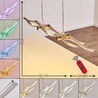 Gamsen Lampa Wisząca LED Stal szczotkowana, 3-punktowe, Zdalne sterowanie, Zmieniacz kolorów
