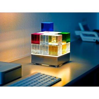 Tecnolumen Cubelight Lampa stołowa LED Przezroczysty, Kolorowy, 1-punktowy