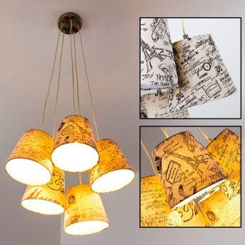 RANKIN lampa wisząca Nikiel matowy, 5-punktowe
