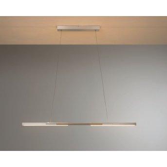 Bopp Link Lampa Wisząca LED Nikiel matowy, Ciemne drewno, 1-punktowy