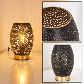 Lampa stołowa Saksborg Czarno-złoty, 1-punktowy