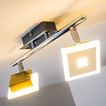 Baramita reflektor sufitowy LED Chrom, 2-punktowe