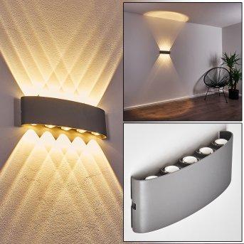 Abaiang Zewnętrzny kinkiet LED Srebrny, 10-punktowe