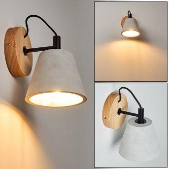 Halltorp Lampa ścienna Czarny, Ciemne drewno, 1-punktowy