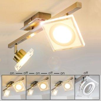 Kolari Lampa Sufitowa LED Nikiel matowy, Chrom, 2-punktowe
