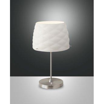 Fabas Luce Soft Lampa stołowa Nikiel matowy, 1-punktowy