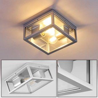 Kiwalik Lampa Sufitowa zewnętrzna Srebrny, 2-punktowe