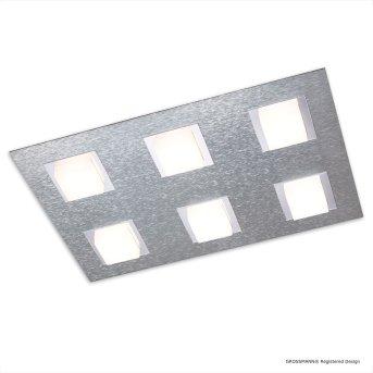 Grossmann BASIC Lampa Sufitowa LED Aluminium, 6-punktowe