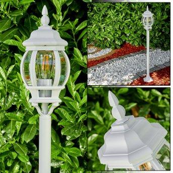 Lentua Zewnętrzna Lampa Stojąca Biały, 1-punktowy