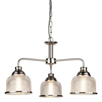 Lampa Sufitowa Searchlight BISTRO Srebrny, 3-punktowe