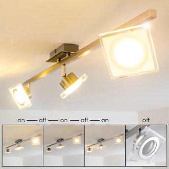 Kolari lampy sufitowe listwy LED Nikiel matowy, Chrom, 3-punktowe