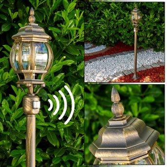 Lentua Zewnętrzna Lampa Stojąca Brązowy, złoty, 1-punktowy, Czujnik ruchu