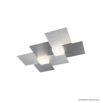 Grossmann CREO Oświetlenie ścienne i sufitowe LED Aluminium, 2-punktowe