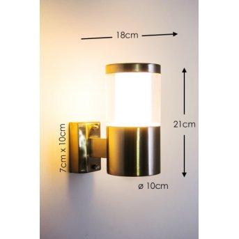 Leon zewnętrzny kinkiet LED Stal nierdzewna, 1-punktowy