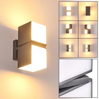 Swanek Zewnętrzny kinkiet LED Antracytowy, 2-punktowe