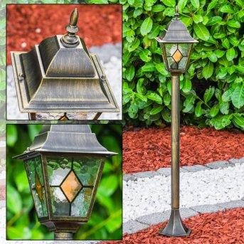 Brilliant Jason zewnętrzna lampa stojąca Czarny, Brązowy, Brązowy, 1-punktowy