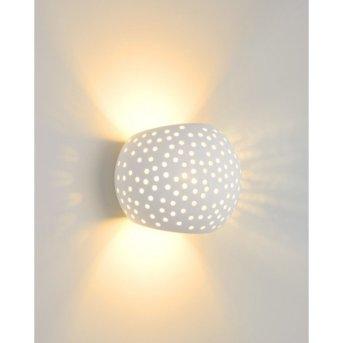 Lucide GIPSY lampa ścienna Biały, 1-punktowy