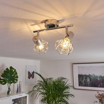 Globo Xara lampy sufitowe listwy Chrom, 2-punktowe