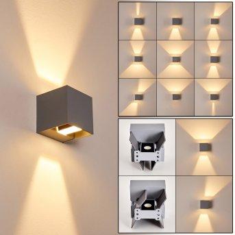 Zewnętrzny kinkiet Fauderup LED Siwy, 2-punktowe