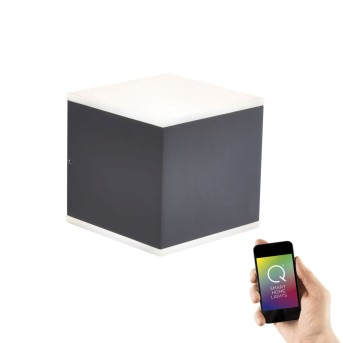 Paul Neuhaus Q-AMIN Lampa ścienna LED Antracytowy, 2-punktowe, Zdalne sterowanie, Zmieniacz kolorów