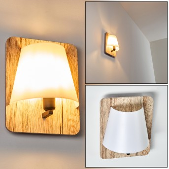 Huddinge Lampa ścienna Jasne drewno, 1-punktowy