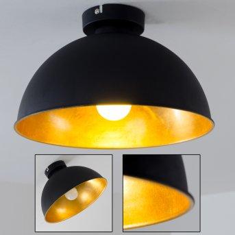 Nome Lampa Sufitowa Czarno-złoty, 1-punktowy