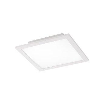 Leuchten Direkt Ls-FLAT Lampa Sufitowa LED Biały, 1-punktowy, Zdalne sterowanie, Zmieniacz kolorów