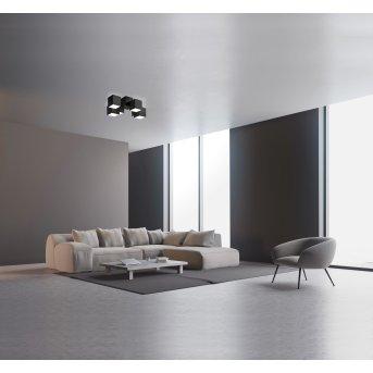 Grossmann ROCKS Lampa Sufitowa LED Czarny, 6-punktowe
