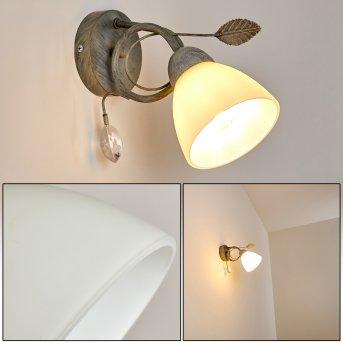 Peccia Lampa ścienna Siwy, 1-punktowy