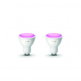 Philips Hue LED zestaw 2 Ambiance White & Color GU10 5,7 Watt 6500 Kelvin 350 Lumen