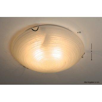 Globo Aimée lampa sufitowa Biały, 2-punktowe