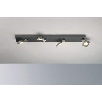 Bopp Flash Lampa Sufitowa LED Aluminium, 4-punktowe