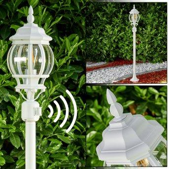 Lentua Zewnętrzna Lampa Stojąca Biały, 1-punktowy, Czujnik ruchu