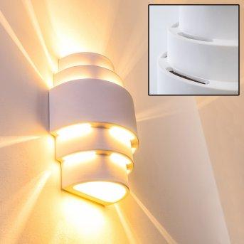 Handan lampa ścienna Biały, 1-punktowy
