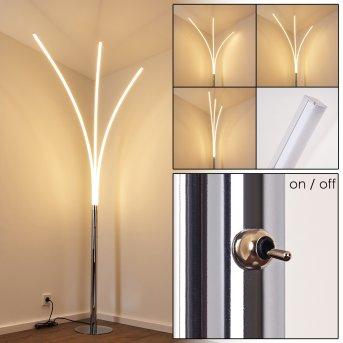 Horpmaal Lampa Stojąca LED Chrom, 3-punktowe