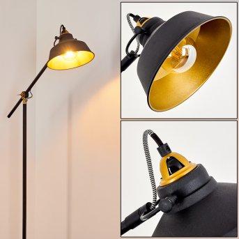 Luven Lampa Stojąca Czarny, Złoty, Czarno-złoty, 1-punktowy