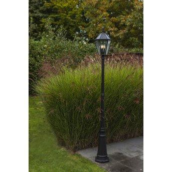 Lutec London lampa słupek ogrodowy LED Czarny, 3-punktowe