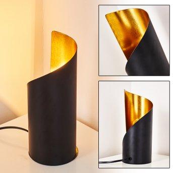 Yahuma Lampa stołowa Czarno-złoty, 1-punktowy
