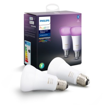 Philips Hue LED zestaw 2 Ambiance White & Color E27 9,5 Watt 6500 Kelvin 806 Lumen