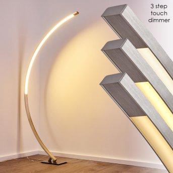 Ruswil Lampa Stojąca LED Nikiel matowy, 1-punktowy