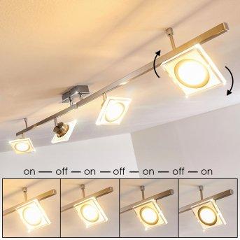 Kolari Lampa Sufitowa LED Nikiel matowy, Chrom, 4-punktowe