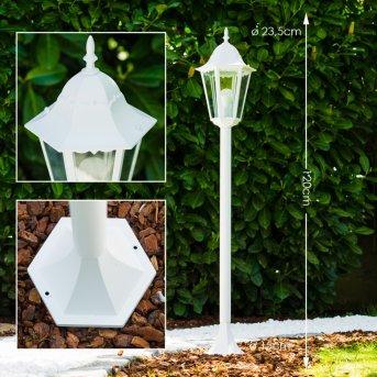 Bristol zewnętrzna lampa stojąca Biały, 1-punktowy