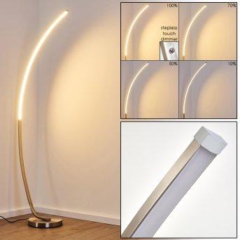 Antares Lampa Stojąca LED Nikiel matowy, 1-punktowy