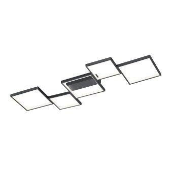 Trio Sorrento Lampa Sufitowa LED Czarny, 1-punktowy